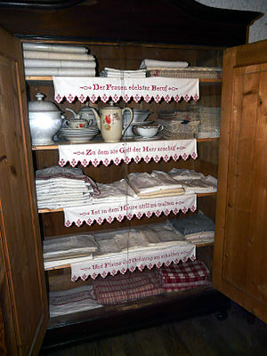 Hope chest - Aussteuerschrank - a dowry closet, currently in a German museum.