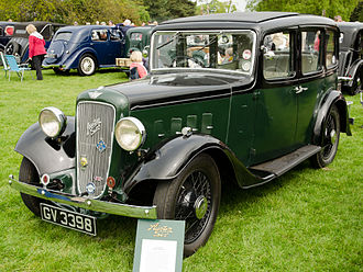 Austin 12/6 - Light Twelve Six Ascot saloon registered April 1935 with Magna wire wheels