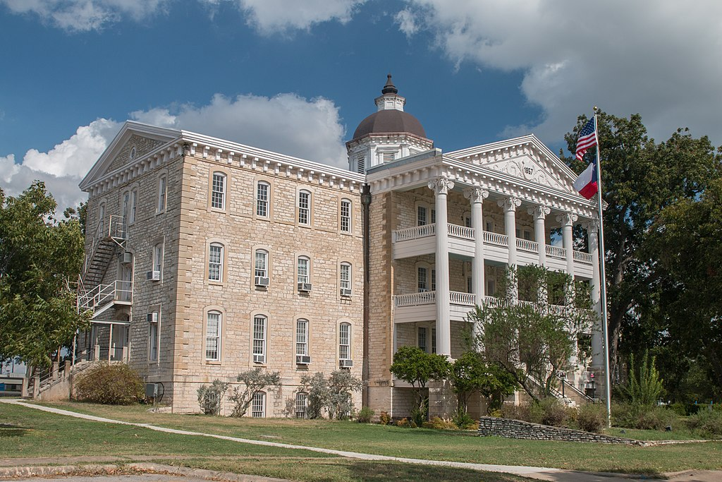 exterior of the historic austin state hospiral