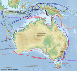 Australia discoveries by Europeans before 1813 de.png