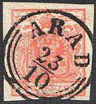 Austria 1850 3Kr IIIa HP ARAD.jpg