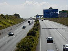Autoroute A10 à proximité de Paris