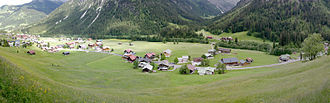 Mittelberg - Panoramic view of the south part of Mittelberg