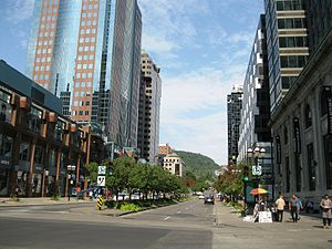 Mount Royal - McGill College Avenue going from Downtown Montreal to Mount Royal