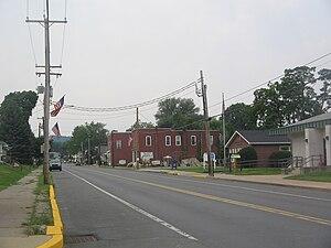 Avis, Pennsylvania - Central Avenue in Avis