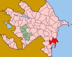 Location of Neftchala