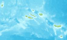 Carte topographique de l'archipel des Açores