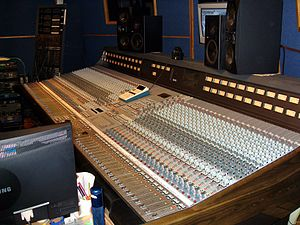 Big Blue Meenie Recording Studio - The Amek 9098i console in control room, Studio A.