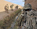 BRF Soldiers Patrol Between Compounds in Afghanistan MOD 45154182.jpg