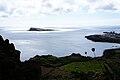Baía da Lagoa com o ilhéu da Praia como fundo, ilha Graciosa, Açores, Portugal.JPG