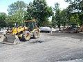 Backhoe loaders, road construction, 2017 Margaret Island.jpg