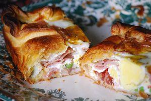 Bacon and egg pie - Image: Bacon&egg pie