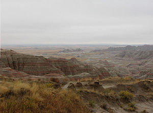 Pine Ridge Indian Reservation - Badlands in the northern portion of Pine Ridge Indian Reservation