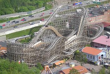 Balder rollercoaster at Liseberg amusement par...