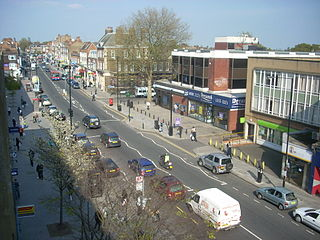 Finchley district of North London, England in the London Borough of Barnet