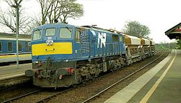 Ballast train 111 at Carrickfergus railway station in 2009.jpg