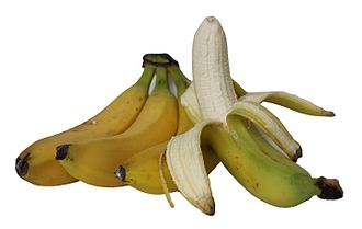 "Banana peel - A banana peeled the ""monkey way"""
