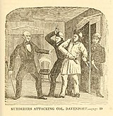1856 illustration of the murder of George Davenport
