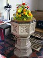 Baptismal Font, Butcombe Church, Somerset - geograph.org.uk - 434703.jpg