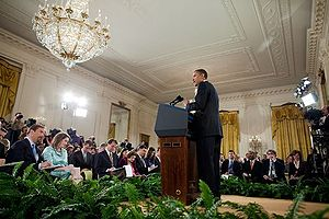 President Barack Obama speaks at a press confe...