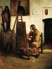 Jeune Peintre dans un atelier