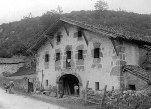Baserri - A stone-built baserri in Gizaburuaga.