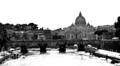 Basilica di San Pietro, Ponte Sant'Angelo e il Tevere, Roma.PNG