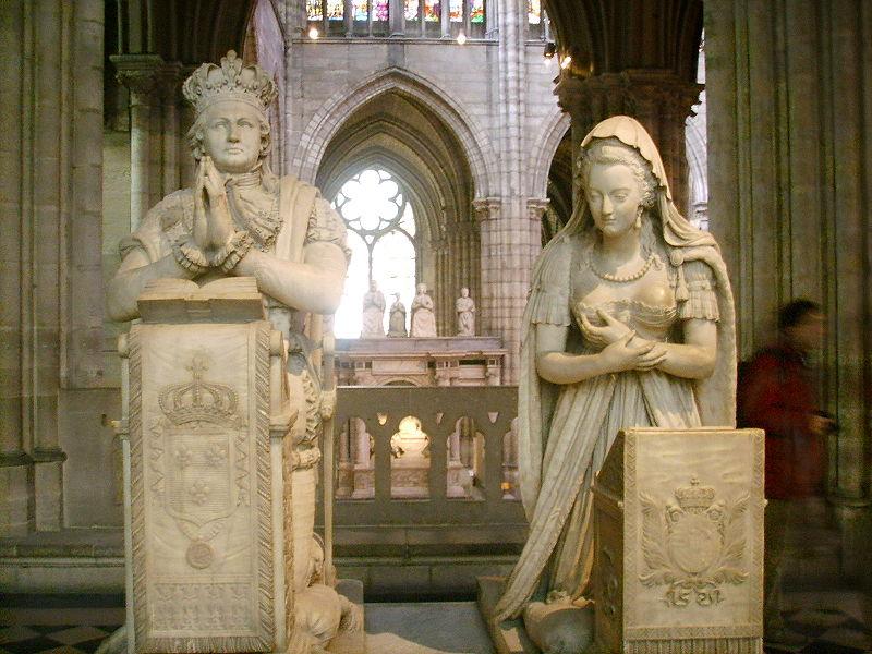 File:Basilica di saint Denis tomba luigi xvi e maria antonietta.JPG