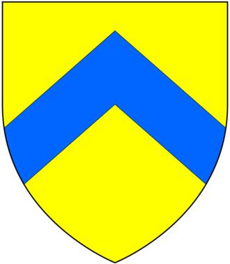 John Bastard (Royal Navy officer) - Arms of Bastard: Or, a chevron azure