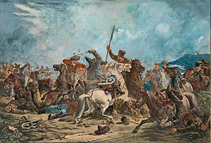 Russian conquest of Central Asia - Ural Cossacks in skirmish with Kazakhs