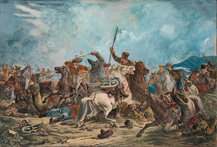 Battle Cossacks with Kyrgyz 1826