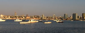 Bay of Luanda (view from Luanda Island), Angola