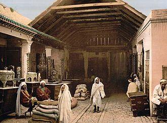 Baazar di Tunisi nel 1899