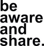 Logo vo Be aware and share.
