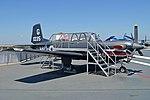 Beechcraft T-34C Turbo Mentor '161035 G-755' (26251527947).jpg