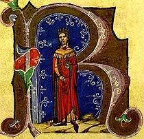 Béla ábrázolása a Képes krónikában