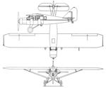 Bellanca CH-300 Pacemaker 3-view Aero Digest April,1930.png