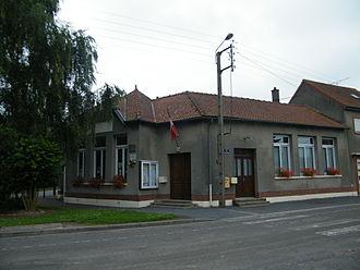 Belloy-en-Santerre - The town hall in Belloy-en-Santerre
