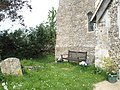 Bench outside St George's Church, Donnington - geograph.org.uk - 789044.jpg