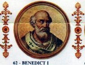Pope Benedict I - Image: Benedict I
