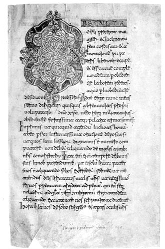 Beneventan script - Rule of St. Benedict, written at Monte Cassino in the late 11th century