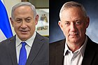 Benjamin Netanyahu jo Benny Gantz