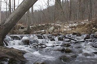 Bennett's Pond State Park - Stream from Bennett's Pond in winter