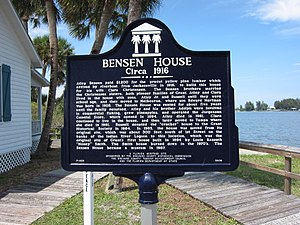 Bensen House - Bensen House historical marker