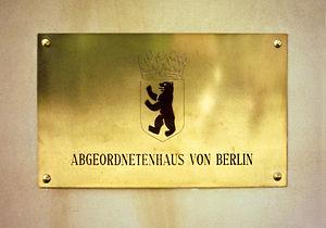 Abgeordnetenhaus of Berlin - Nameplate