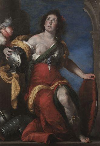 Bernardo Strozzi - Image: Bernardo Strozzi Allegorical figure (Minerva?)