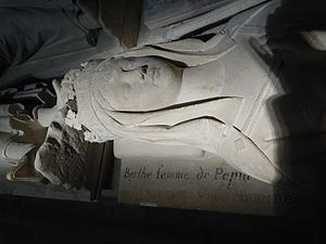 Bertrada of Laon - Tomb of Bertrada of Laon at the Saint Denis Basilica