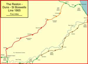 Berwickshire Railway - The Duns and Berwickshire Railway branches