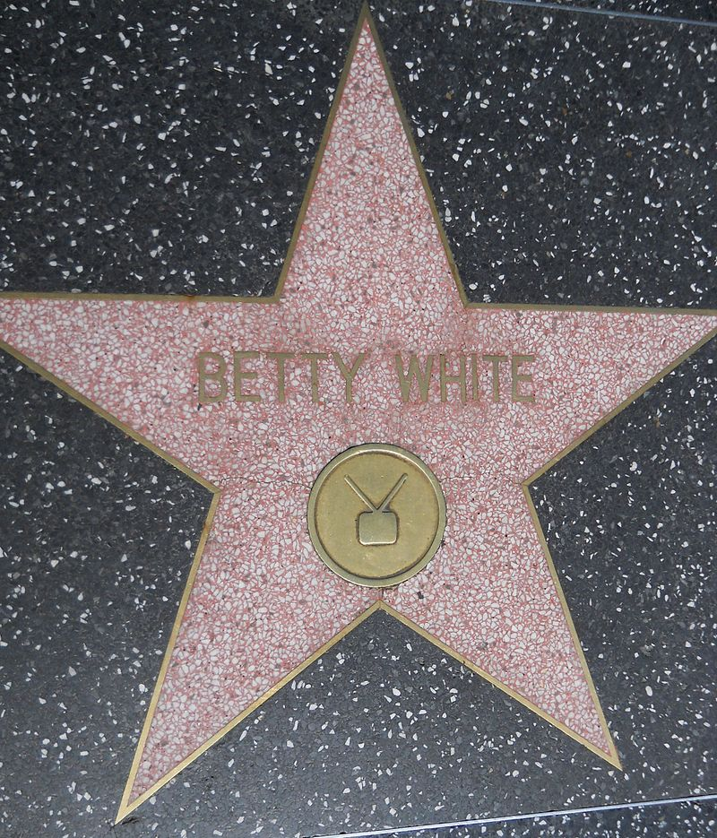 Betty White's star on the Hollywood Walk of Fame