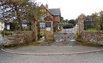 Bideford Higher Cemetery - The entrance to Bideford Higher Cemetery